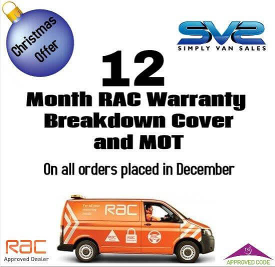 12 Months warranty on all vans sold in June